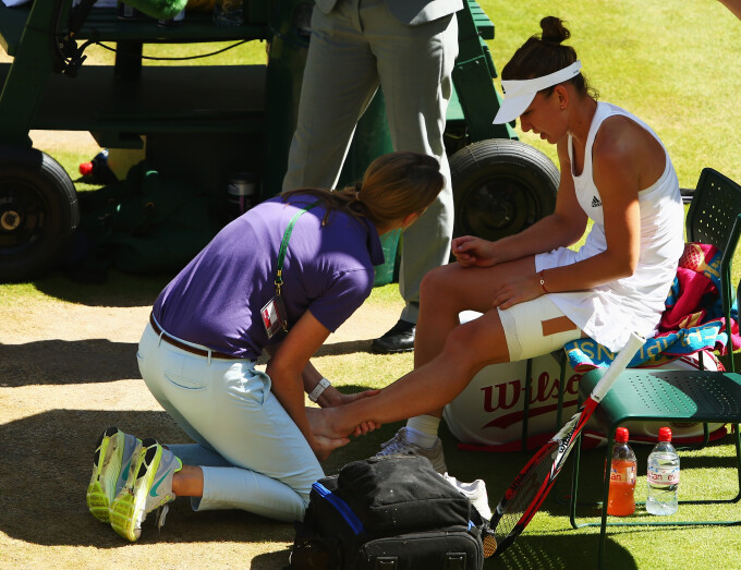 Simona Halep, accidentare, Wimbledon