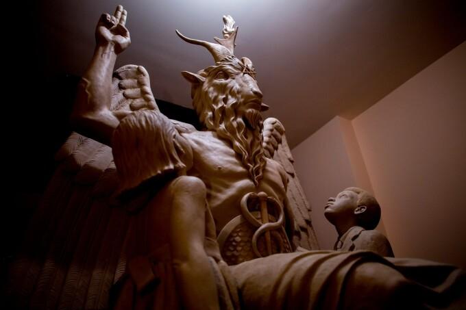 statuia demonului Baphomet din Detroit