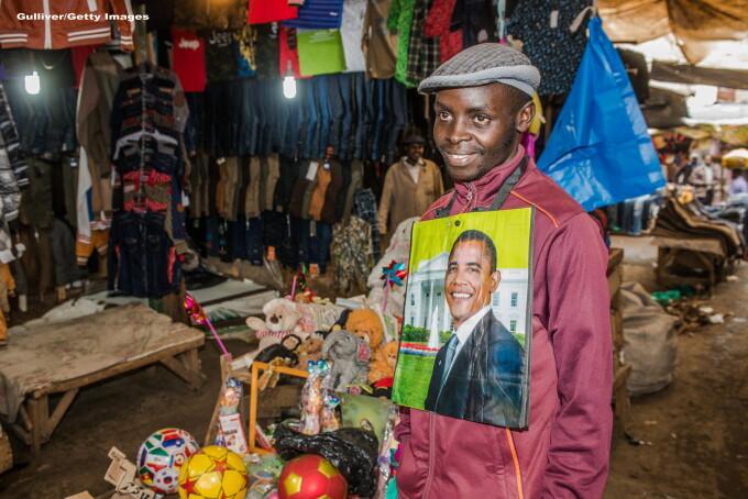 Barack Obama in Kenya - GETTY