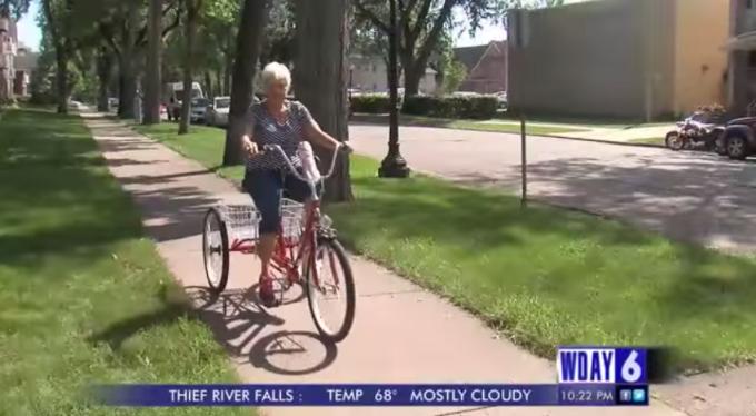 bicicleta, batrana
