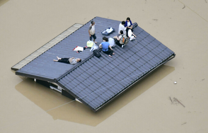 Inundații devastatoare în Japonia: milioane de evacuați