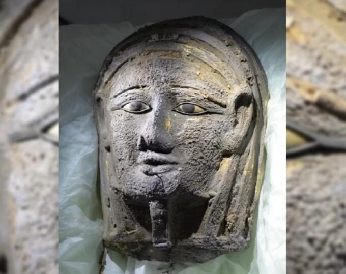mumie masca argint
