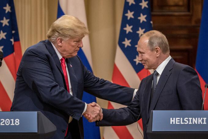Vladimir Putin şi Donald Trump, la Helsinki