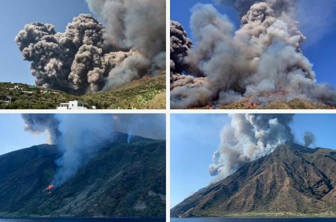 Erupţia vulcanului Stromboli din Italia. Un mort şi mai mulţi răniţi