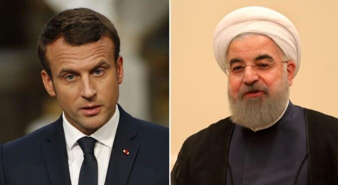 Hassan Rouhani si Emmanuel Macron