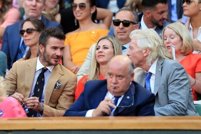 David Beckham și miliardarul Richard Branson