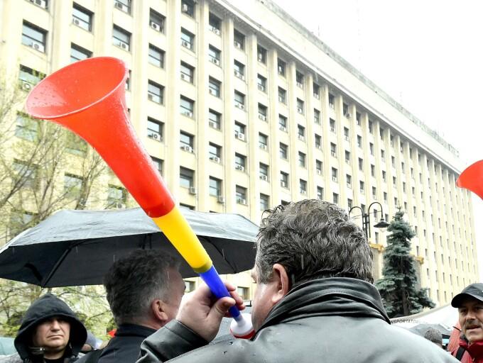 Protest la ministerul Transporturilor