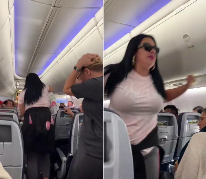 scandal în avion