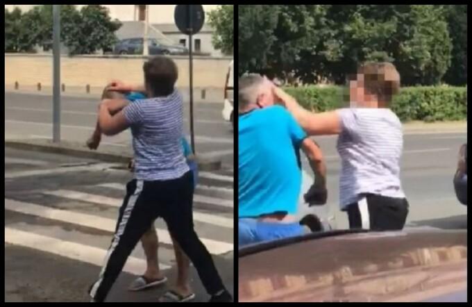 Bărbat bătut de o femeie în Arad