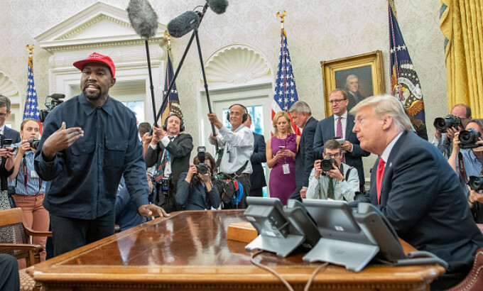 donald trump si kanye west