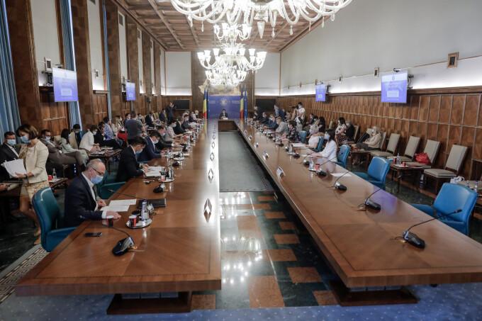 Sedința de guvern de miercuri de la Palatul Victoria din București
