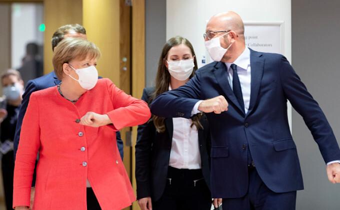 Angela Merkel și Charles Michel