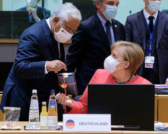Angela Merkel și Antonio Costa