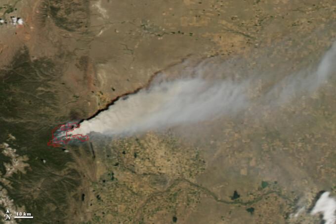 Colorado incendiu spatiu