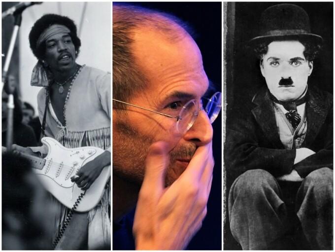 Jimi Hendrix, Steve Jobs si Charlie Chaplin