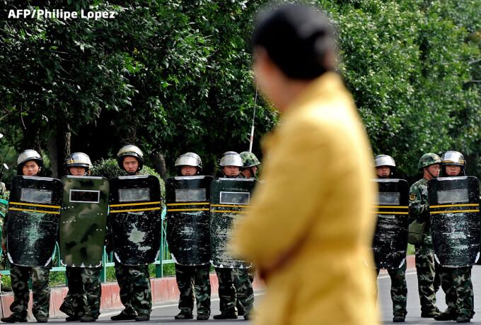 protest scutieri China
