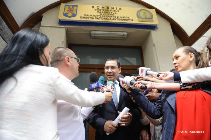 Victor Ponta la DNA - AGERPRES