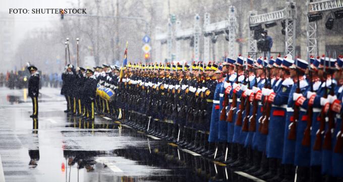 soldati romani la parada de 1 decembrie