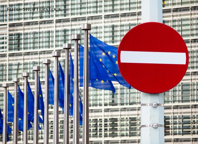 sediul Comisiei EUropene, semn de INTERZIS