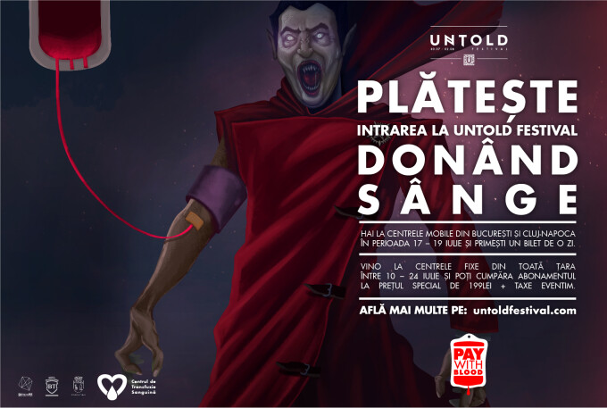 "UNTOLD premiat la Cannes pentru campania ""PAY WITH BLOOD"""
