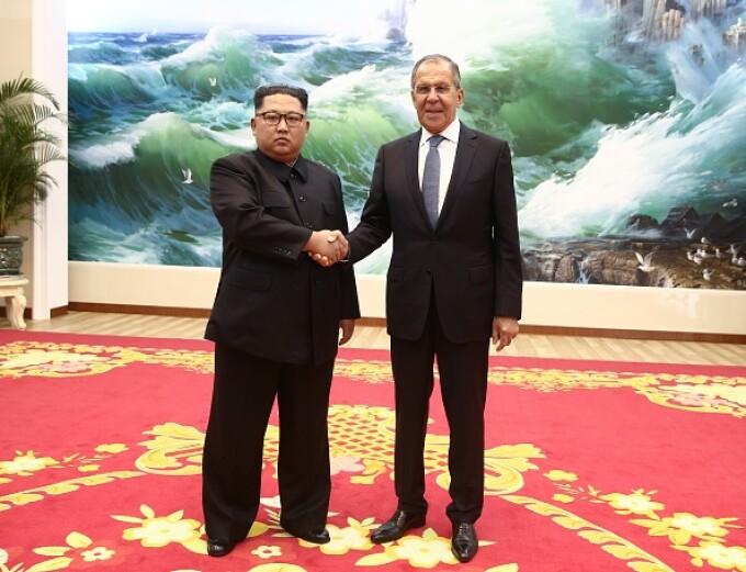 Kim Jong-un Serghei Lavrov