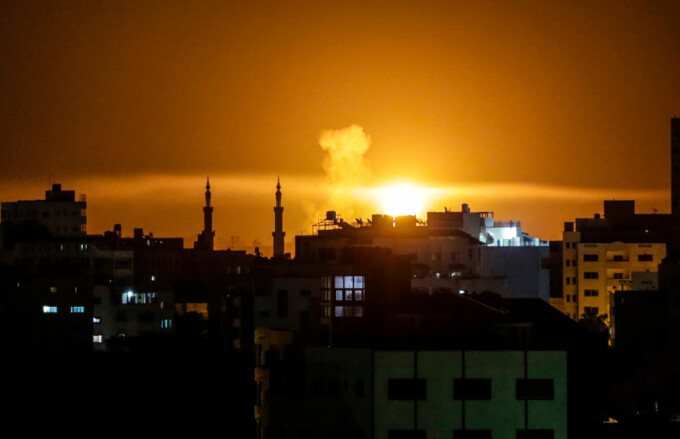 Raid israelian asupra fâşiei Gaza