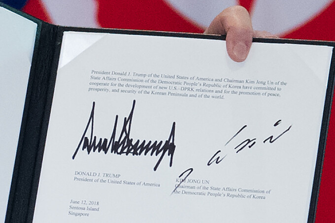 document trump - kim