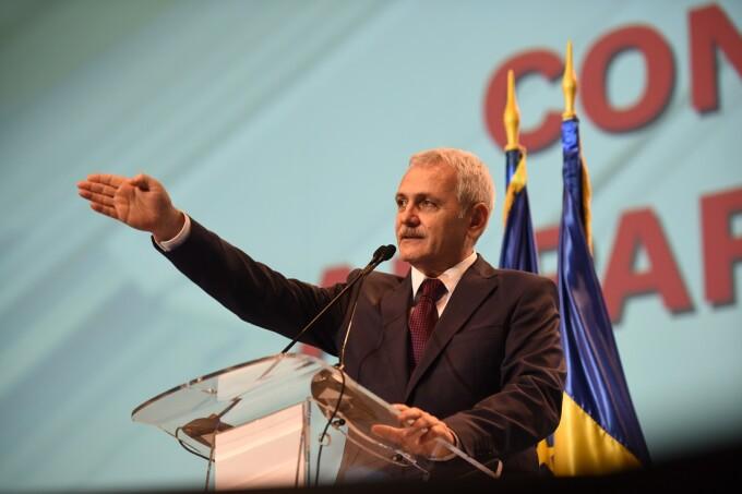 Liviu Dragnea, președintele PSD, tine un discurs la congresul Partidului Social Democrat