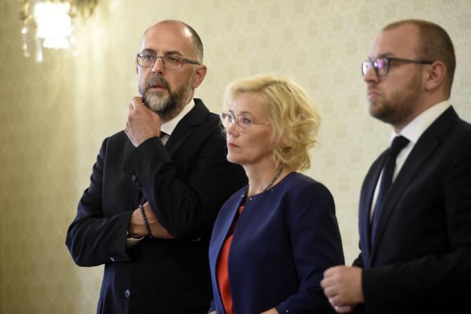 Kelemen Hunor, presedintele UDMR, Rozalia Biro si Porcsalmi Balint
