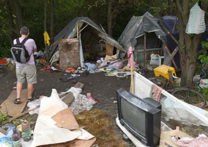 Atac la o tabara de romi din Ucraina