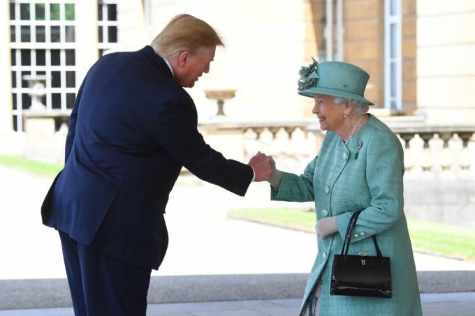 donald trump, regina elisabeta