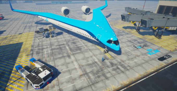 """Avionul """"Flying-V"""" - 4"""