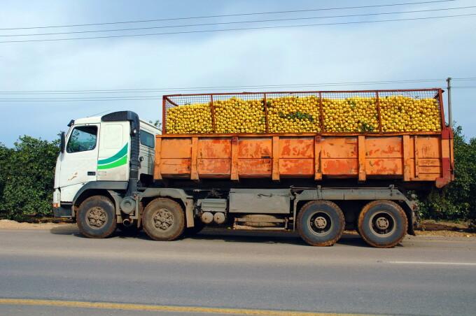 camion cu fructe
