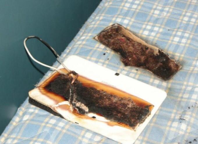 Tabletă Samsung arsă