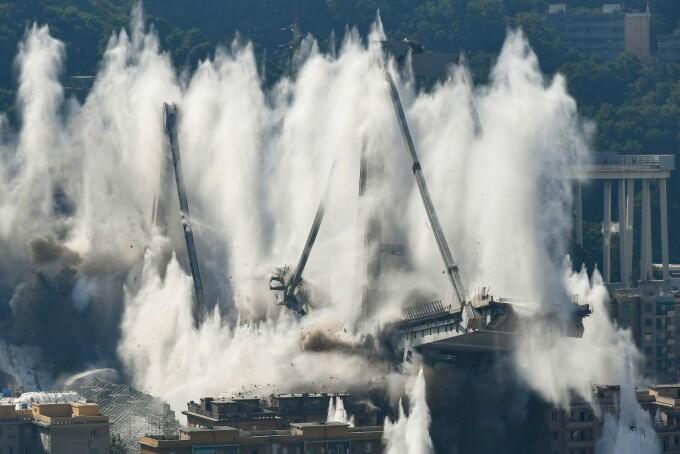 Podul Morandi din Genova, prăbuşit în 2018, a fost demolat complet