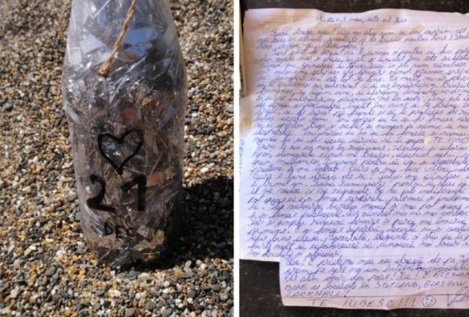 Scrisoare de dragoste scrisă în română, găsită într-o sticlă pe o plajă din Irlanda