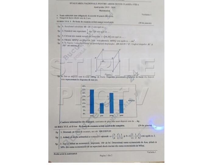 Valutazione nazionale delle materie di matematica