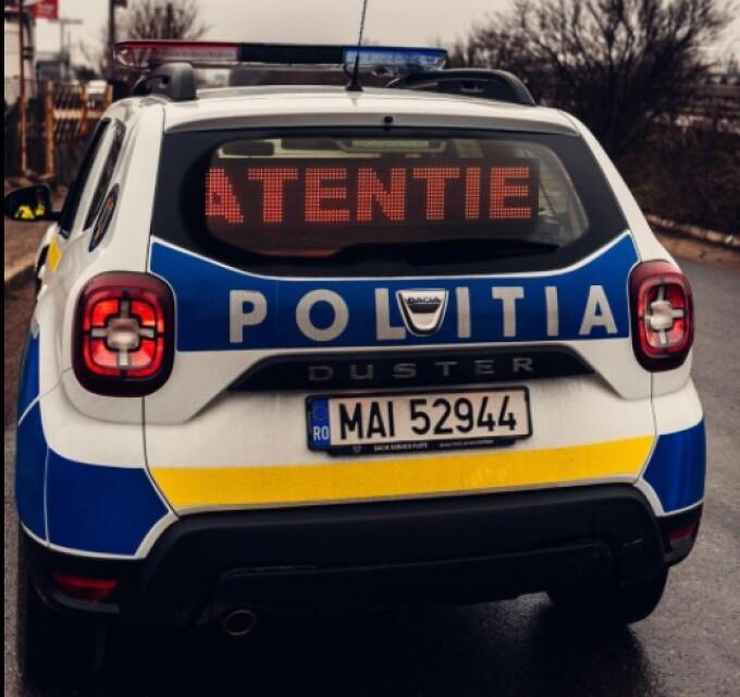 Politia Romana mașină