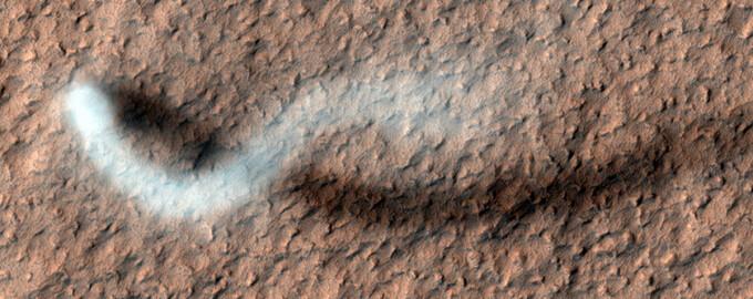 vartej sub forma de sarpe, Marte