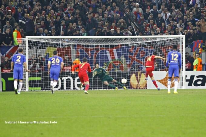 Gol Rusescu Steaua-Chelsea