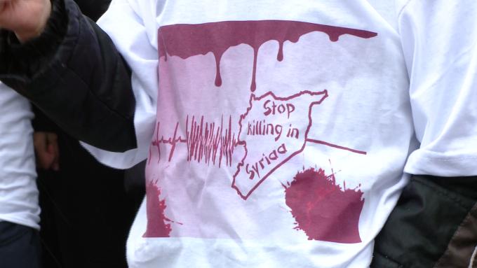 protest masacre siria,timisoara