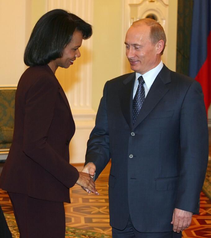 Condoleezza Rice, alaturi de Putin