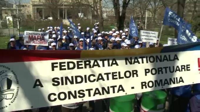 Protest al sindicatelor portuare