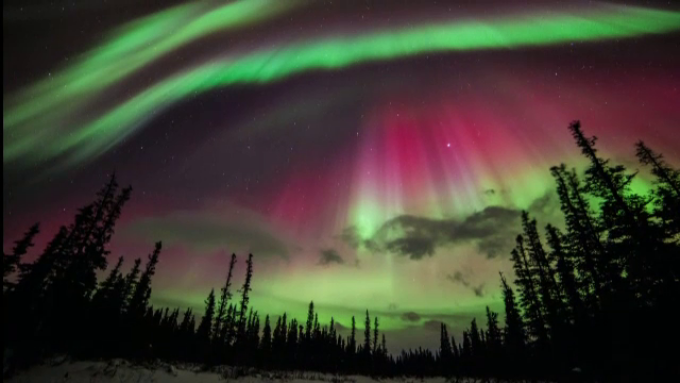 natura, aurora polara