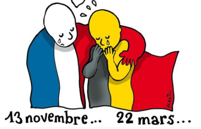 caricatura atac Bruxelles