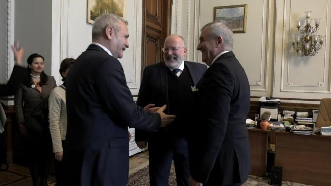 Frans Timmermans, Liviu Dragnea, Calin Popescu Tariceanu