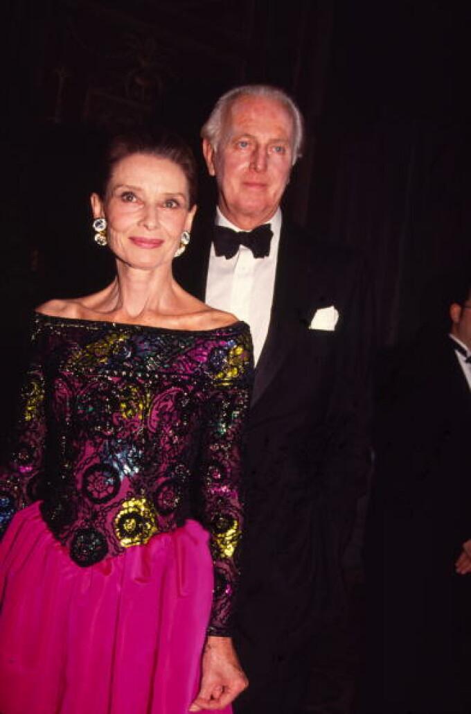 Hubert de Givenchy și Audrey Hepburn