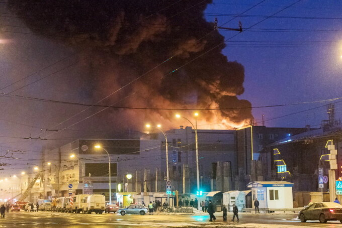 Incendiu la un mall din Rusia: cel puţin 37 de morţi