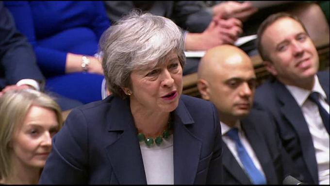 Theresa May, în Parlamentul britanic