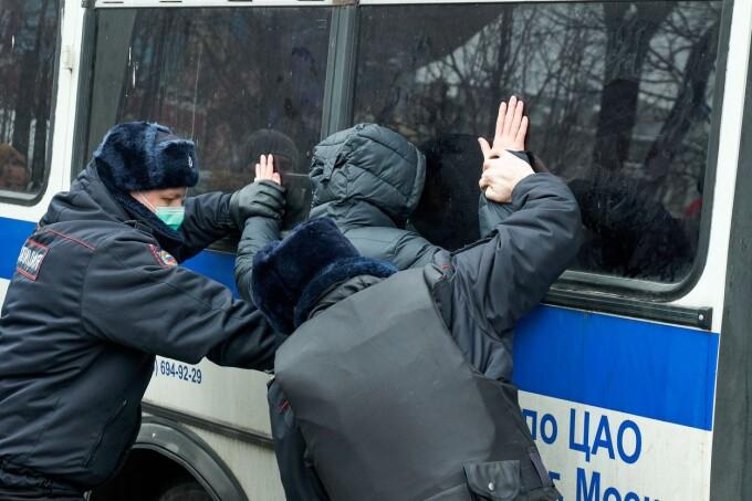 VIDEO. Poliția rusă a făcut